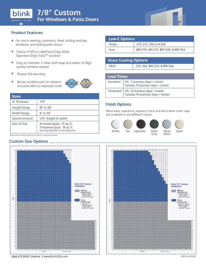Blink 7-8 Custom Tech Sheet Cover