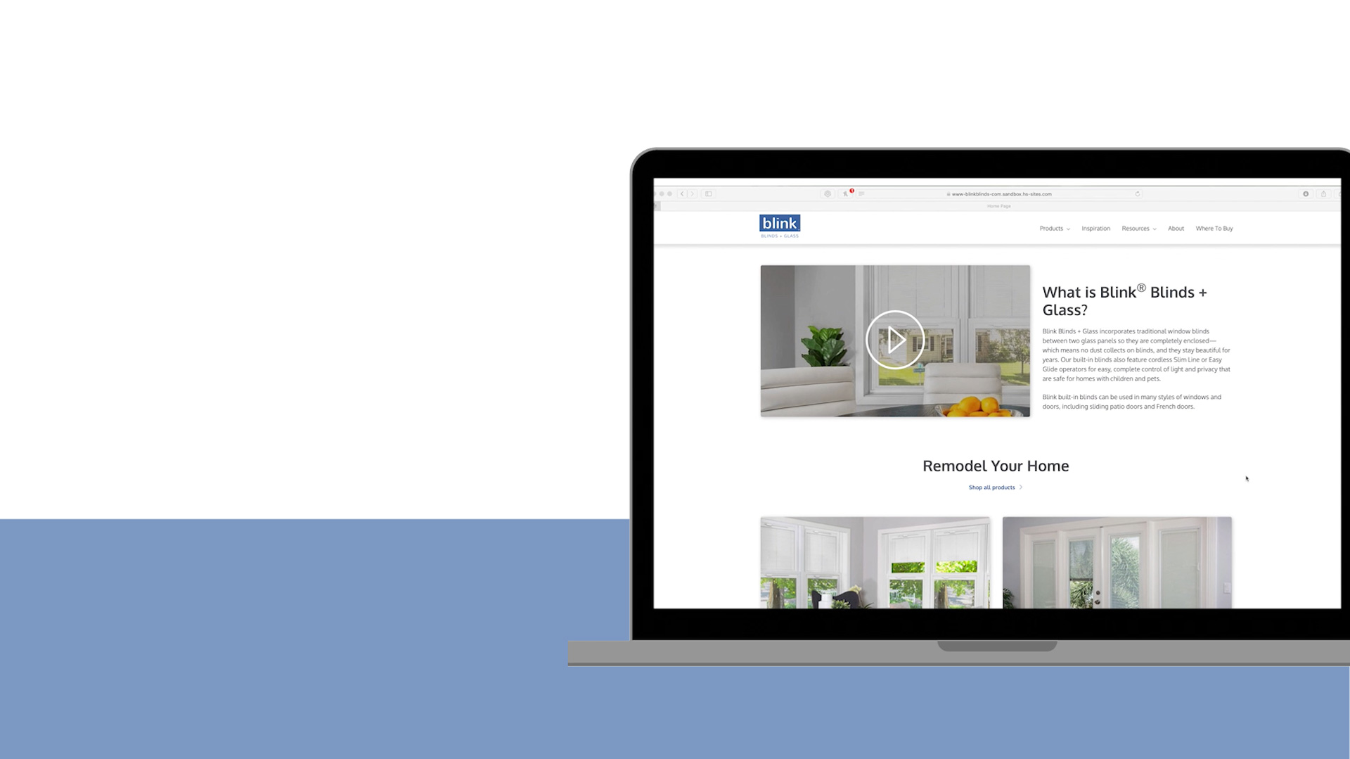 Blink Blinds + Glass, an ODL Company, Introduces New Website
