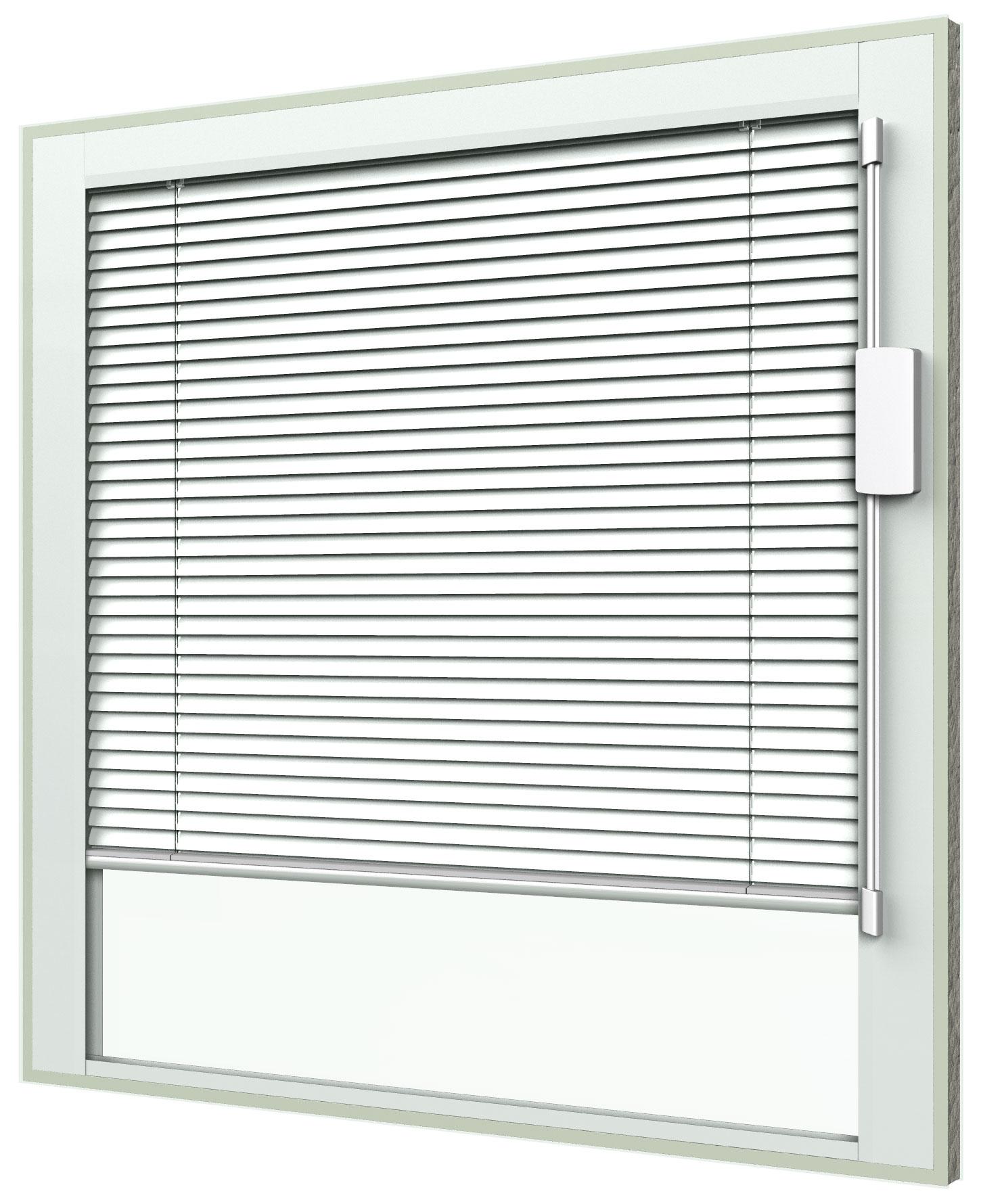 Blink Blinds + Glass - blinds between glass for fixed windows - raise/lower/tilt operator